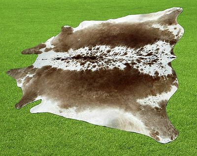 """New Cowhide Rugs Area Cow Skin Leather  (50"""" x 52"""") Cow hide LWP-9633"""