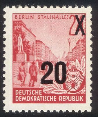 Germany 1954 (1953 definitive) Buildings/ 20pf on 24pf Overprint 1v (n44572)