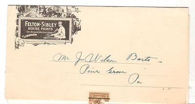 Undated Brochure Mailer Felton Sibley and Co Paint and Varnish Products PA