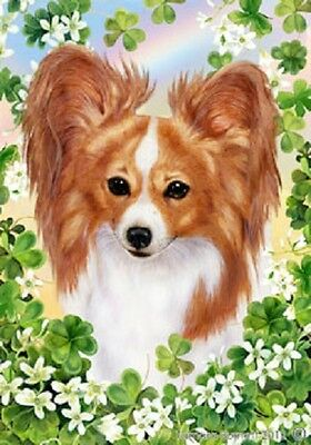 Large Indoor/Outdoor St. Patrick's Flag - Red & White Papillon 31064