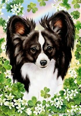 Large Indoor/Outdoor St. Patrick's Flag - Black & White Papillon 31078