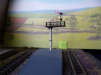 TRAIN RAILWAY N GAUGE SIGNAL Upper quadrant 1-way HOME/DISTANT  ROUND posts [67