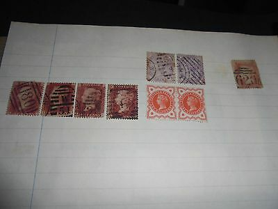 A collection Great Britain stamps of QUEEN VICTORIA Stamps
