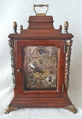 Warmink Mantel Shelf Clock Moonphase Silent Option Double Bell Strike 70s Spares