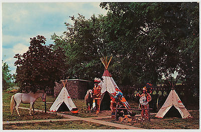 Greetings from Indian Trading Post at Rockome Gardens, Arcola, Illinois