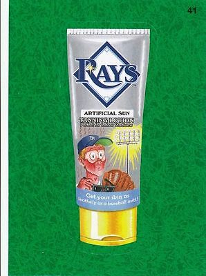 2016 Topps Wacky Packages Mlb - Tampa Bay Rays Tanning Lotion - Green Grass!!!