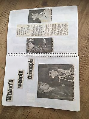 42 Double Sided Page Wham George Micheal Scrapbook Inc Farewell Concert Tickets!