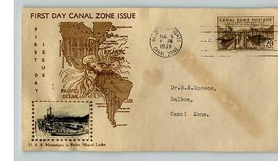SELDOM SEEN! 13 Crosby CANAL ZONE, 1939  First Day of Issue, 2 cents to 25 cents