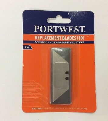 Portwest  Replacement Blades (10) KN91 New, Sealed For KN40 & KN30