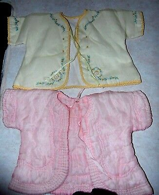 Vintage 1930s/40s -Gorgeous Silk Pink Yellow Romantic Baby/Doll Dress Top Lot 2