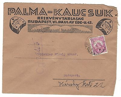1931, Hungary, cover with perfin stamp