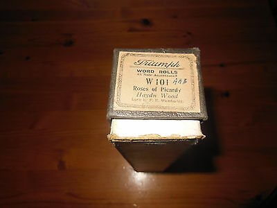 Triumph Word Rolls - Roses Of Picardy - W101 - Haydn Wood  - Pianola Roll