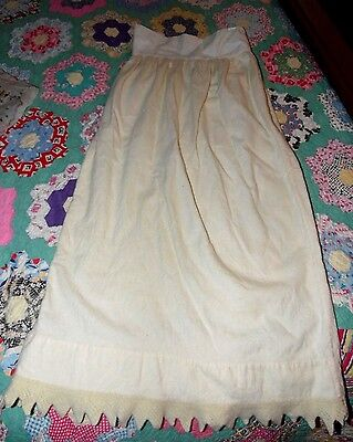 Antique Victorian 1800s Unique Beautiful Romantic Baby Christening Gown Skirt