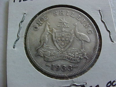 Very Rare 1933 Australia one shilling low mintage 220,000