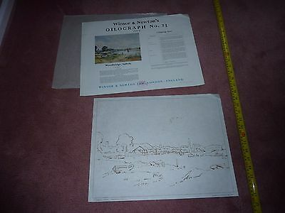 Oilograph 23 Woodbridge Suffolk Winsor & Newton Painting Template Stencil Old