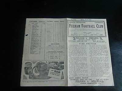 FULHAM v  CHELSEA  FOOTBALL LEAGUE SOUTH  April 6th 1945/46