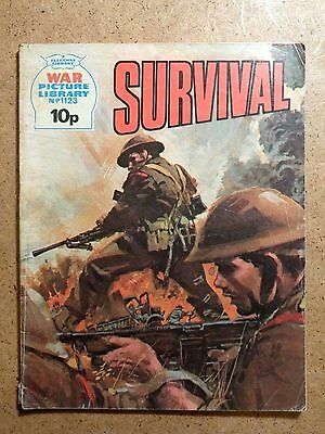 War Picture Library Comic No.1123 Survival 1975 Vintage Fleetway Battle