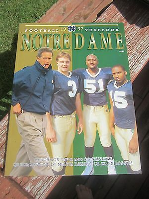 1997 NOTRE DAME Football Yearbook