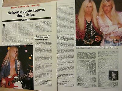 Matthew and Gunnar Nelson, Two Page Vintage Clipping