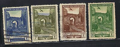 Dominican Republic 4 old used stamps