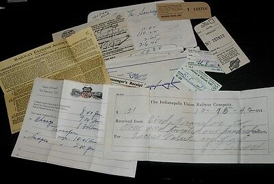 Lot Rr Ephemera Union Pacific Trip Ny To Ca December 1942