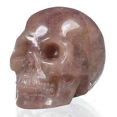 """1.93"""" Natural Purple Aventurine Hand Carved Human Skull,Collectibles#23B26"""