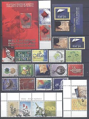 Kosovo 2008 Stamp Year Set Cancelled All Very Fine