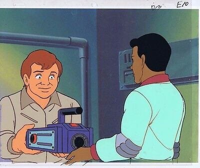 The Real Ghostbusters Original Production Animation Cel & Copy Bkgd #A17550