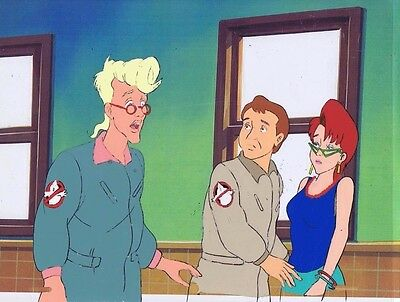 The Real Ghostbusters Original Production Animation Cel & Copy Bkgd #A16723