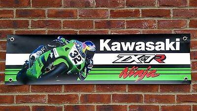 Br58 Kawasaki Zx7R 750 Zxr-7 Zx-7R Ninja Banner Garage Workshop Sign