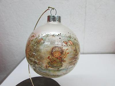 Hamilton Christmas Ornament.1982 Hallmark Sister Glass Christmas Ornament Mary Hamilton