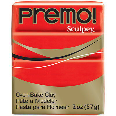 Premo Sculpey Polymer Clay 2oz-Cadmium Red