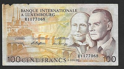 100 Francs Luxembourg 8 MARS 1981