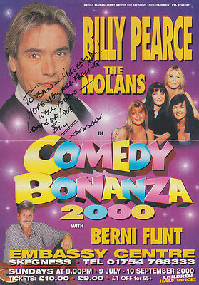 Billy Pearce with The Nolans at Skegness Lincoln Hand Signed Theatre Flyer