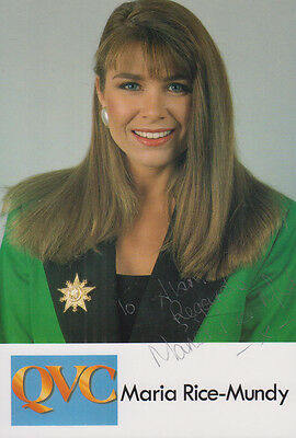 Maria Rice Mundy QVC Shopping Presenter Hand Signed Cast Card Photo