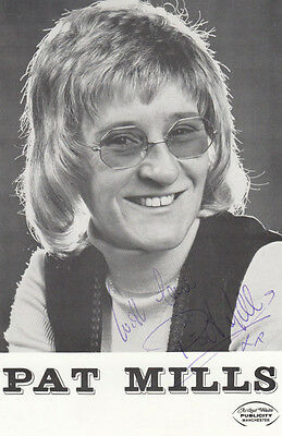 Pat Mills Film Star Comedian 3x Hand Signed Photo s