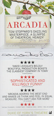 Samantha Bond from Downtown Abbey in Arcadia Hand Signed Theatre Flyer