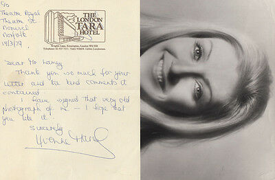 Yvonne Marsh Come Dance With Me You Rang M'Lord Hand Signed Letter Photo
