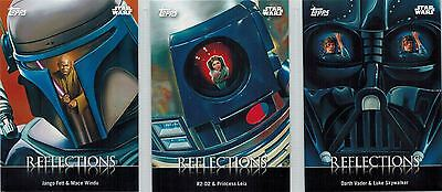 STAR WARS Card Trader Physical Cards: Lot of 3 Reflections Cards, R-3-5-7