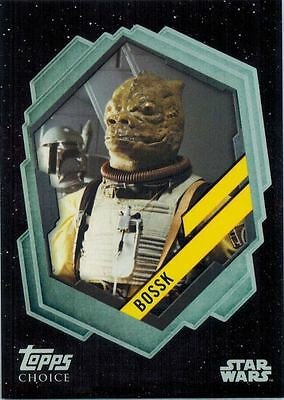 STAR WARS Card Trader Physical Cards: Topps Choice Card of Bossk, TC-6