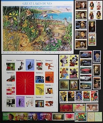 US 2008 Commemorative Year Set 100 stamps incl. Sheets/Flags, Mint NH, see scans
