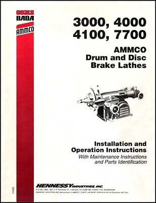 Ammco Drum and Disc Brake Lathes  Manual