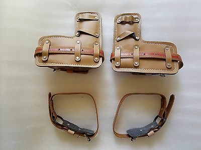 Tree Climbing Spike Set Pole Climbing Spurs Pads With Straps Fit Most Brands
