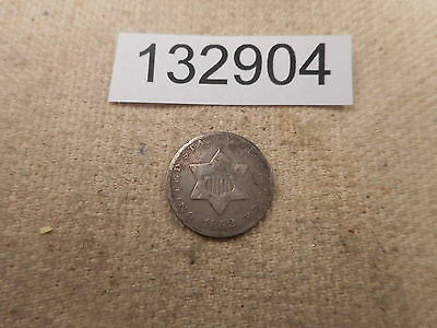 1852 Three Cents Silver - Collector Grade Album Coin - # 132904