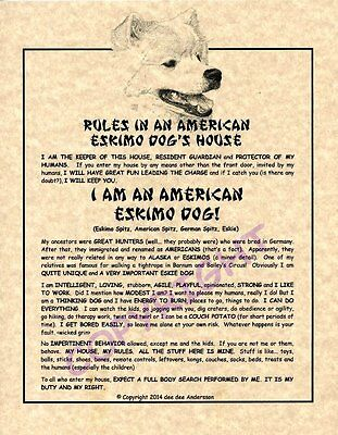 Rules In An American Eskimo Dog's House