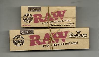 Raw Connoisseur Double Pack 1 1/4 And King Size Slim Papers With Pre-Rolled Tips