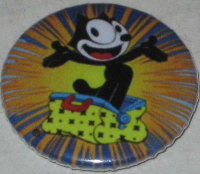 "Felix the Cat & His Bag of Tricks Pin Approx Pin 2.25"" Clasp Style Pinback"