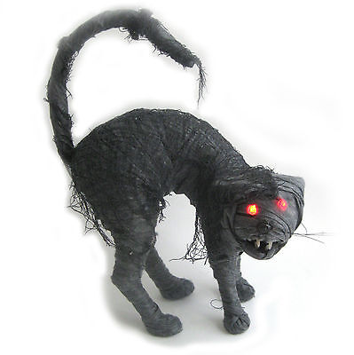 Zombie Cat Undead Mummy LED Lighted Scary Halloween Party Decoration 17""