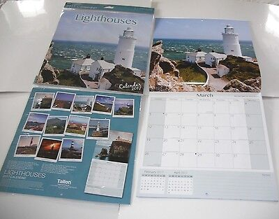 2017 Square Month To View Scenic Photo Wall Calendar Planner - Lighthouses