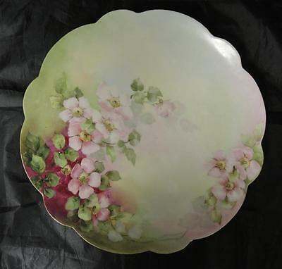 Antique Hand Painted Limoges Round Charger * Chop Plate